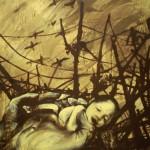 Futuro - 100 x 70 acrilico.sabbia.legno 2010